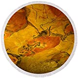 Pixels Round Beach Towel With Tassels featuring ''Paleolithic Paintings, Altamira Cave'' by Pixels