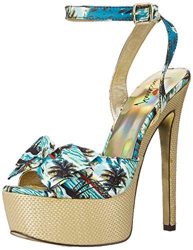Luichiny Women's Love Potion Platform Sandal, Tropical, 6 M US -