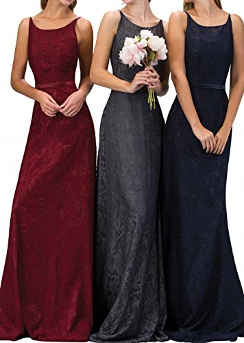 Herrlich Langes Abendkleider Navy Neu Partykleider Festlichkleider Spitze Charmant Blau Damen Abschlussballkleider OI5xqnA