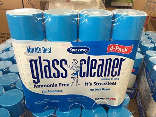 Sprayway 443331 Ammonia Free Glass Cleaner 19 Oz 4 Pack