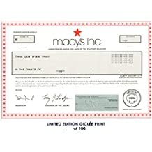 Lost Posters RARE POSTER thick MACY'S INC. stock certificate 2018 REPRINT #'d/100!! 12x18