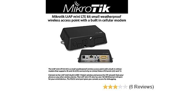 MikroTik RB912R-2nD-LTm/&R11e-LTE-US LtAP mini LTE kit-US US vers Dual-SIM GPS