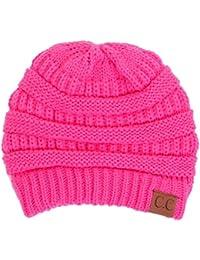 d664d126ed2d4f BYSUMMER C.C Warm Soft Cable Knit Skull Cap Slouchy Beanie Winter Hat