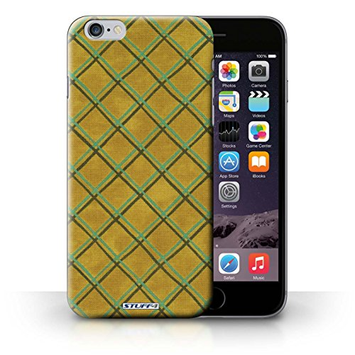 Hülle Case für iPhone 6+/Plus 5.5 / Gelb Entwurf / Kreuz Muster Collection