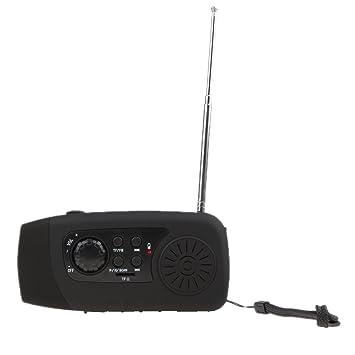 IPOTCH Manivela dinamo solar Radio Teléfono Móvil Cargador ...