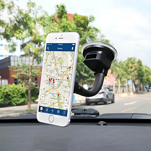 f3ec10bd32e8e0 Amazon.com: Premium Magnetic Car Mount Dash and Windshield Holder Window  Rotating Dock Stand Strong Grip Suction for T-Mobile Samsung Galaxy Core  Prime ...