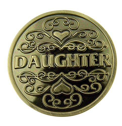 Silver Tone Faithful Protector Pocket Token with Prayer - Daughter ()