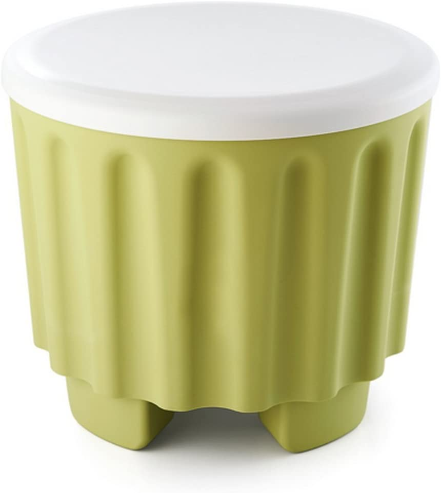 YAVOCOS Superimposed Storage Plastic Stool Seat Ottomans Multifunctional Storage Stool 3D Creative Toy Green