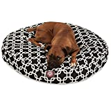 Black Links Large Round Indoor Outdoor Pet Dog