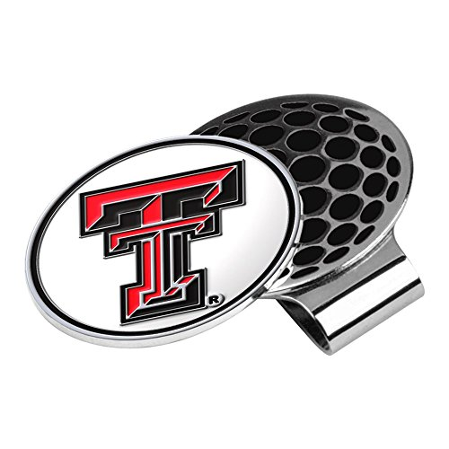 LinksWalker NCAA Texas Tech Red Raiders Golf Hat Clip with Ball Marker]()
