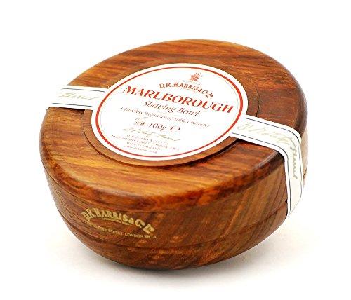 D.R.Harris & Co Marlborough Mahogany Effect Shaving Bowl & Shaving Soap by D.R.Harris & Co
