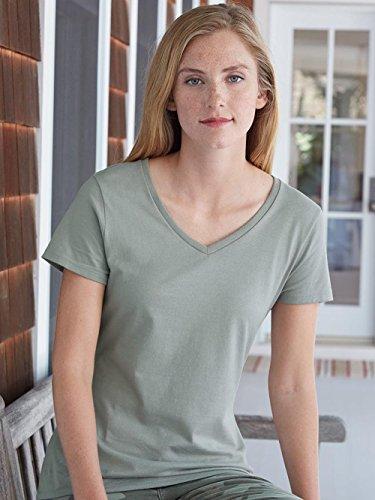Hanes – Nano-T Women's V-Neck T-Shirt – S04V