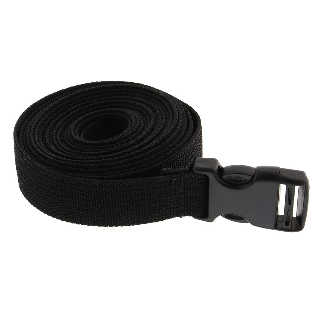 F Fityle Outdoor Travel Luggage Straps Quick Release Webbing Suitcase Secure Belts - Black, LxW-1Mx2CM