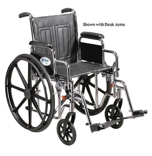 Wheelchair Std Rem Full Arms Elev Legrests 20 Heavy Duty Rem Full Arms