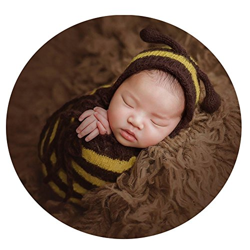 Newborn Bee Outfit (Newborn Photography Props Baby Photo Shoot Outfits Infant Boy Girl Bee Hat Sleeping Bag)