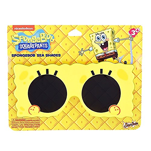 Sun-Staches Costume Sunglasses Nickelodeon Lil' Characters Spongebob Party Favors UV400