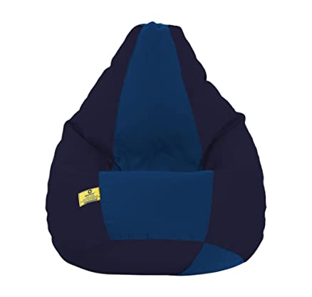 Dolphin XXXL Fabric Bean Bag With Beans Blue