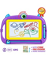 Peradix Magnetic Doodle Drawing Board - Erasable Scribble Board Colorful Writing Pad Learning toys for Kids Children Toddlers