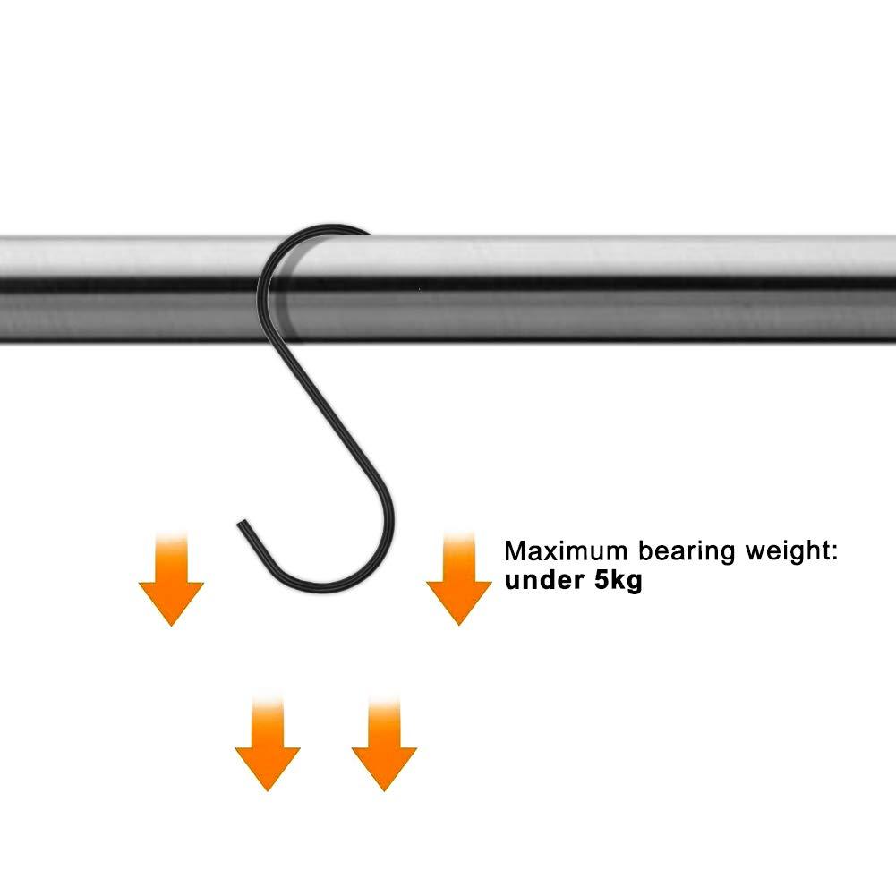 Handt/ücher Vorh/änge Pfannen T/öpfe sumdirect schwere Stahl schwarz S Haken mit PVC-Beschichtung f/ür h/ängende Pflanzen Taschen