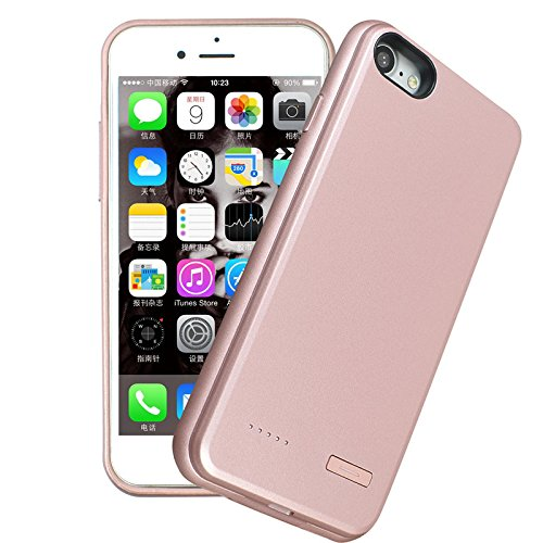iPhone7Plus battery case ,[3700mAh]Ultra Silm Rechargeable Charging Case Shock Proof Protective Backup battery power Case for iPhone 7Plus[Rose Gold]