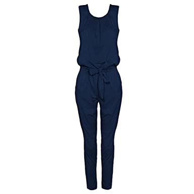 Niseng Elegant Damen Jumpsuit Mit Lang Hosen Rundhals Ausschnitt Ärmellos  Frauen Overall Party Abendmode Casual Jumpsuits  Amazon.de  Bekleidung 8cb96c1b22