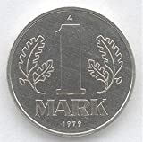 East German Communist One Mark Coin. Circulated