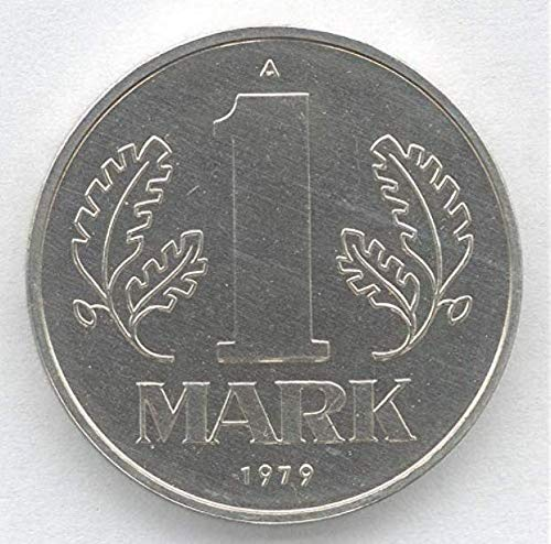 East German Communist One Mark Coin. Circulated After WW2 in Communist East Germany Post Hitler and Nazi Cold War Coin. Circulated Condition (One Mark)