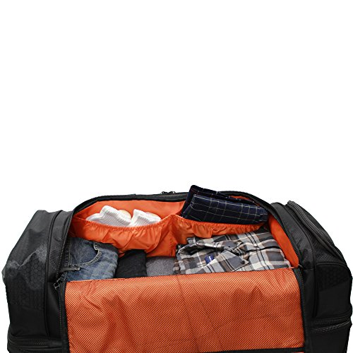 Pathfinder Gear 26 Inch Rolling Drop Bottom Duffel, Black, One Size
