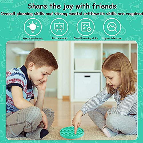 Deelife 3 Pack Push pop pop Bubble Sensory Fidget Toy, Autism Special Needs Stress Reliever, Silicone Stress Reliever Toy, Squeeze Sensory Toy for Kids and Adults - BPA Free (Green, Purple, Yellow)
