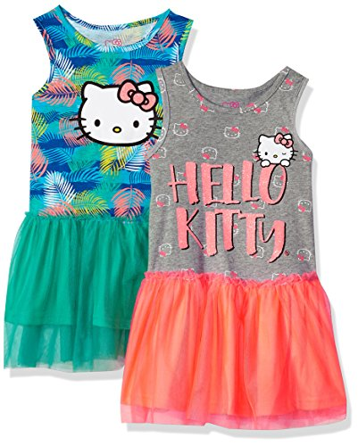 Hello Kitty Big Girls' 2 Pack Embellished Tutu Dresses, Ceramic, 8