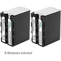Kastar Battery (2-Pack) for Sony NP-F970 NP-F960 F970 F960 F975 F950 and DCR-VX2100 HDR-AX2000 FX1 FX7 FX1000 HVR-HD1000U V1U Z1P Z1U Z5U Z7U HXR-MC2000U FS100U FS700U and LED Video Light