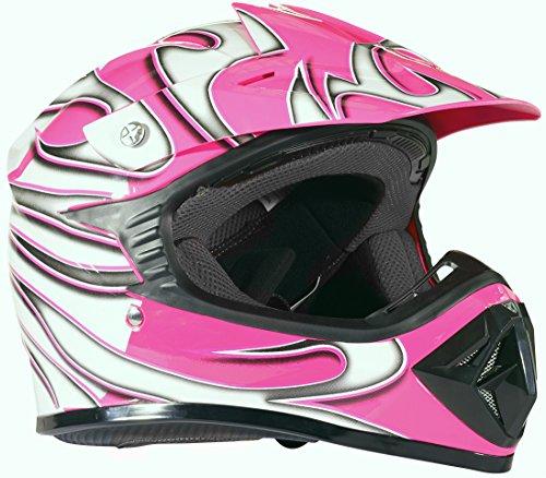 X-large Atv - Kids Youth Offroad Helmet DOT Motocross ATV Dirt Bike MX Motorcycle - Pink - X-Large