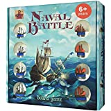 Naval Battle - Tactic and Strategy Battleship Board Game for Kids 6 and up - Best Two Player Board Games for Boys and Girls - Action and Adventure Family Games for Children