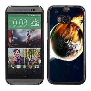 TopCaseStore / la caja del caucho duro de la cubierta de protección de la piel - Space Planet Galaxy Stars 50 - HTC One M8
