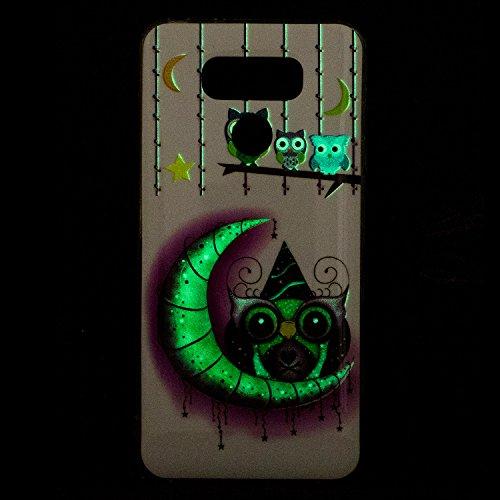 Funda LG G6, CaseLover Noctilucent Luminous TPU Silicona Carcasa para LG G6 (5.7 pulgadas) Ultra Delgado Suave Fluorescente Efecto Verde Brillo Nocturno En la Oscuridad Protectora Caso Flexible Caucho Pájaro de dibujos animados