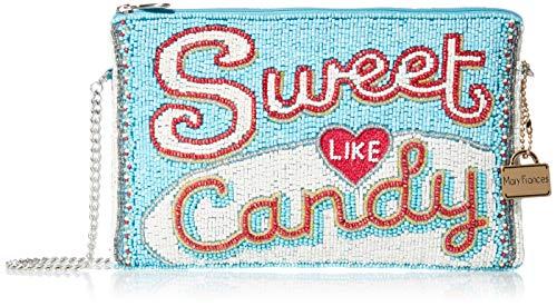 Mary Frances Sweet Like Beaded Candy Bar Mini Crossbody Handbag, multi