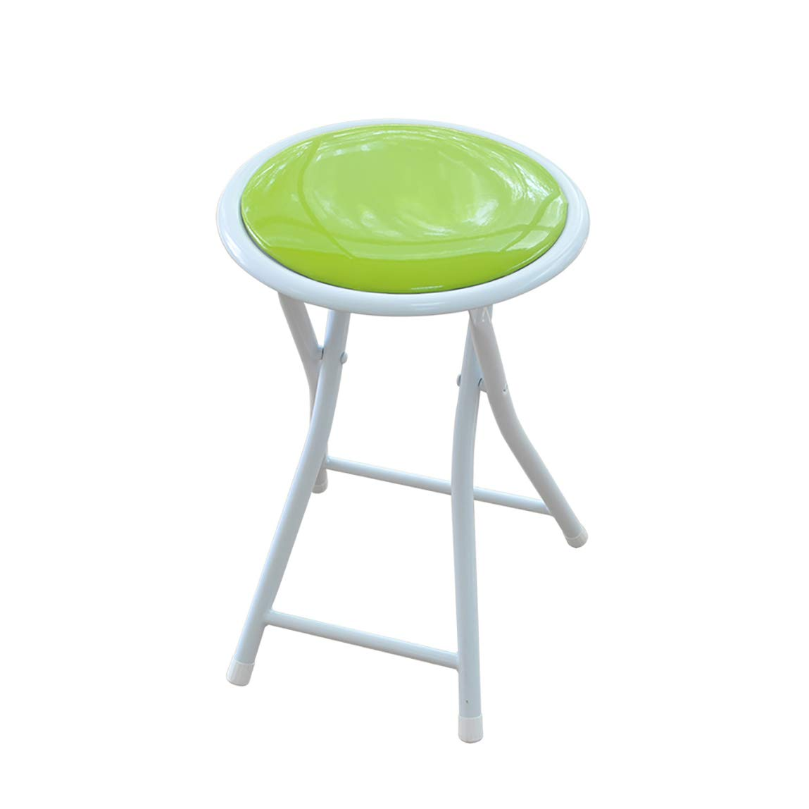 B XHLZDY Folding Chair, Dining Chair Folding Stool Portable Chair Small Round Bench (30×30×43cm) (color   B)