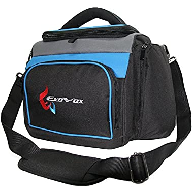 Insulated Cooler Bag with Removable Inner Liner Holds 16 Cans in Main Compartment, Two 1.5 Liter Wine Bottles or More Cans. Keep Contents Cool or Warm for Hours for Picnics, Sporting Events, Travel