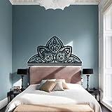 Wall Decal Vinyl Sticker Art Decor Interior Mandala Design Ornament Ganesh Indidan Head Fireplace Geometric Moroccan Pattern Sun Yoga Modern Bedroom (M1457) Review