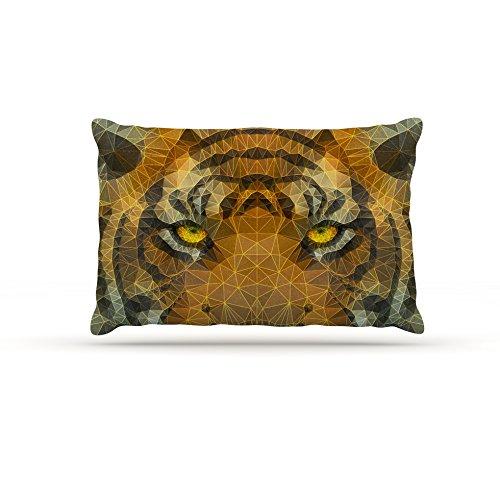 30 by 40\ Kess InHouse Ancello Be Wild  orange Geometric Fleece Dog Bed, 30 by 40