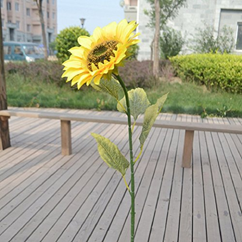 1Pc 75cm Single Large Artificial Sunflower Home Garden Fence Decoration