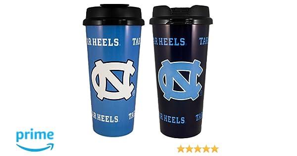 GameDay Novelty NCAA North Carolina Tarheels Insulated Travel Tumbler with No Spill Flip Lid 2 Piece 16 oz