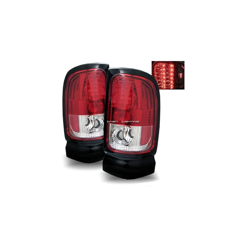94 01 Dodge Ram LED Tail Lights   Red Clear Automotive