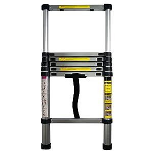 Yi Hai 6.5ft Portable Aluminum Telescoping Ladder Extension Multi Purpose Lightweight