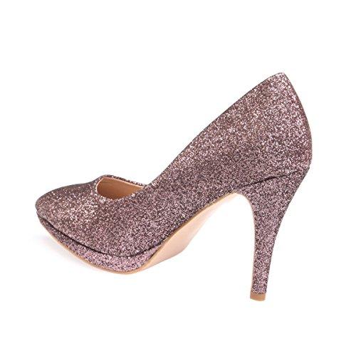 Vestir Modeuse Material Zapatos Rose Mujer Sintético De La HtwZq1H