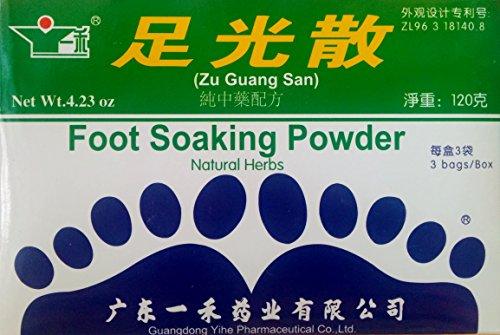 Foot Soaking Powder (Zu Guang San), Helps Smelly Feet, Sweat, & Corn (Soaking Feet)