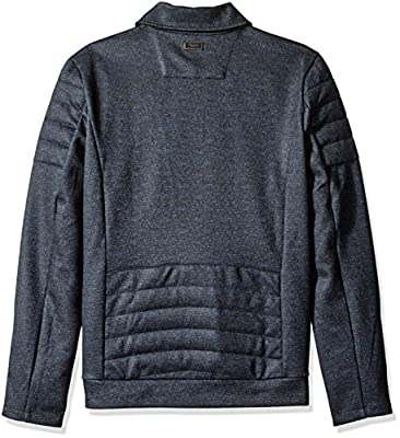 Calvin Klein Men's Slim Fit Full Zip Heather Knit Moto Jacket