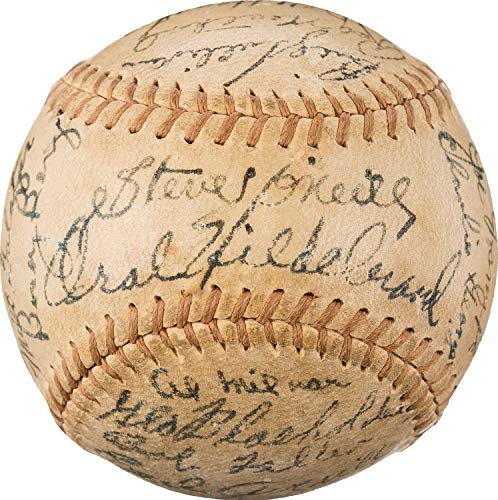 The Finest 1936 Cleveland Indians Team Autographed Signed Baseball Bob Feller Rookie Memorabilia PSA/DNA - Certified Signature Bob Feller Signed Baseball