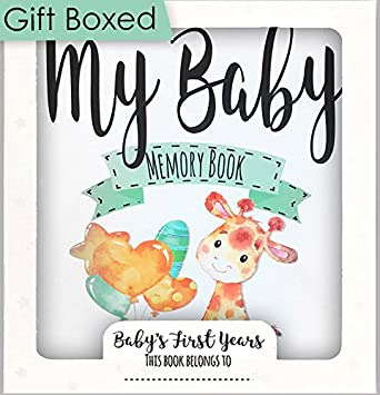 Amazon Baby Memory Book Baby Journal Baby Record Book 0 3