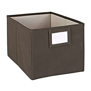 ClosetMaid 25067 Fabric Bin, Brown